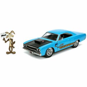 1/24 Jada Plymouth Road Runner 1970 + Figurine Wile E.Coyote Looney Tunes Neuf