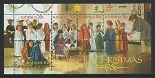 1986 Christmas Mini Sheet Australian Stamps MNH.