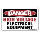 DANGER High Volt Equipment Sticker - OSHA Safety vinyl decal sign warning FE119