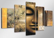 Tableau Moderne contemporain bouddha  5 partie Image sur toile 100 x 50 cm