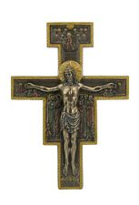 10 Inch San Damiano Crucifix Wall Plaque Statue Figurine Figure Religious Saint