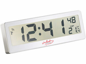 Große Funkuhr Wanduhr Tischuhr mit großem XXL LCD-Display und Temperatur-Anzeige