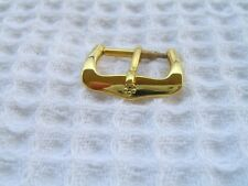 VINTAGE NOS 14MM ETERNA YELLOW GOLD PLATED WATCH BUCKLE                    *5640