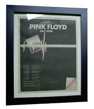 PINK FLOYD+Dark Side Moon+TOUR+ORIGINAL 1974 POSTER AD+FRAMED+FAST+GLOBAL SHIP