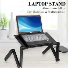 Adjustable Folding Lazy Laptop Desk Home Office Computer Stand Table w/ Mousepad