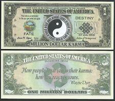 Karma Yin~Yang Million Dollar Bill Fake Funny Money Novelty Note + FREE SLEEVE