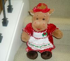 Build A Bear Plush Moose wearing Mrs Clause Outfit - Apron Dress & Cap 17""