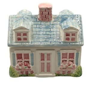 Our Town Collection Ceramic Covered Box Trinkets Jewelry Kitchen Canister READ