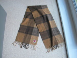 Harrisons 100% Scottish Cashmere Fawn Plaid Tartan Scarf
