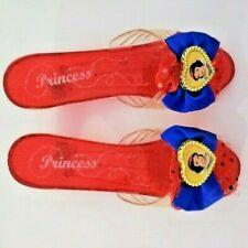 """Disney Princess Snow White Slipper Heel Sandal Red hard resain plastic 7.5"""" long"""
