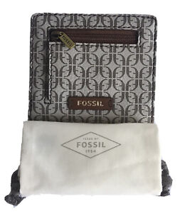 FOSSIL Madison Small Bifold Wallet w/Dust Bag , Taupe/Tan NWT