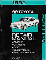 1992 Toyota Cressida Shop Manual 92 Brand New Original Repair Service Book OEM