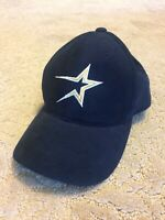 VINTAGE HOUSTON ASTROS GOLD STAR MLB GENUINE MERCHANDISE BLUE BASEBALL CAP