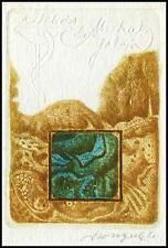 Szoltysek Kazimierz 1983 Exlibris C4 Bookplate Medicine Medizin 1498