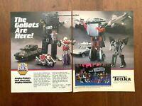 1984 Tonka GoBots Authentic Vintage Print Ad/Poster 80s Toys Pop Art Decor