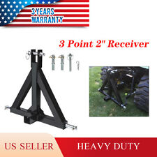 3 Point 2 Trailer Receiver Hitch Tow Drawbar Category 1 Tractor Steel Adapter