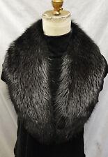 Real Beaver Fur Collar Black Detachable New Men Women made in the U.S.A.