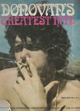 "1969- ""DONOVAN'S GREATEST HITS"" Song Book- LYRICS, CHORD NAMES, PICTURES"