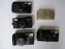 LOT OF 5  35MM FILM CAMERA NIKON CANON PENTAX OLYMPUS TESTED WORKING GREAT