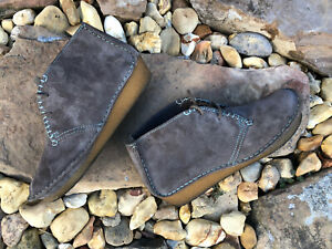 Clarks Originals Faraway Taupe Suede Lace Up Shoes Boots Womens Sz 7 M 96103537