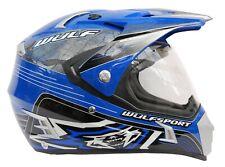 Wulfsport Prima Speed Helmet Small Blue Motorbike Motocross MX Adult Road