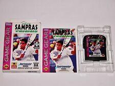 Pete Sampras Tennis Complete in Box for Sega Game Gear **SUPER RARE US VERSION**