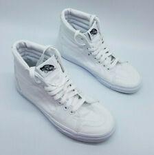 Vans off The Wall Sk8-Hi Skateboard Shoes True White Size US Women's 7/Men's 5.5