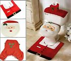Christmas Decorations Happy Santa Toilet Seat Cover and Rug Bathroom Set Xmas UK