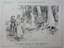 Gun & Ferreting HERO WHO TOOK OUT PARTY OF LADIES March 11th 1914 Punch Cartoon