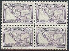 Mexico 1923 Sc# 647 Map of Mexico block 4 Mnh
