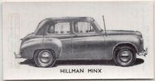 """Vintage Hillman """"Minx""""  Car 1950s Ad Trade Card"""