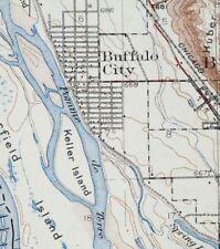 1932 Cochrane Wisconsin Stockton Rollingstone Vintage USGS Topo Map