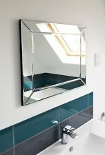 Large Wall Mirror Single Edge Venetian Modern Bathroom 2Ft2 X 1Ft10 66 X 56cm
