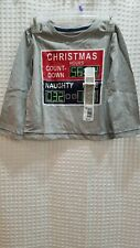 NWT Toddler T Shirt 2T Christmas Count Down Long Sleeve Grey Quality Graphic