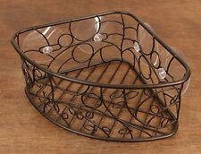 Inter Design Bronze Brown Corner Suction Basket Holder