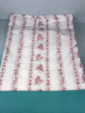 SIMPLY SHABBY CHIC Curtain Balloon BLUSH BEAUTY Stripe/Pink Roses 60X64 Valance