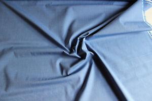 Stoffrest: 3,50 m Blusen- Hemdenstoff, blau, Breite: ca. 145 cm, Mat:  BW - PE