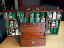 More details for rare large antique apothecary cabinet box with contents & secret back panel