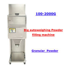 110V 100-2000g  BIG Powder filling machine vibratory filler Tea Weigh Automatic