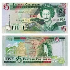 East Caribbean States  Antigua 5 Dollars 2003 Pick 42a Unc. / 2850044##