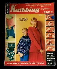 Vintage 1968 McCalls Knitting Instruction Booklet For Beginners Book # 4