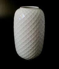 "70s Thomas Porzellan ""Holiday"" Vase 25cm Waben relief porcelain rayon annees 70"
