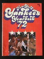 1972 NEW YORK YANKEES VINTAGE BASEBALL YEARBOOK MAGAZINE 122118