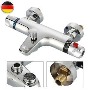 Badewannenarmatur Mischbatterie Thermostat Wannenbatterie Aufputz-Dusche DE