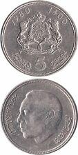 MAROKKO/MOROCCO 5 Dirhams 1980/1400 VF (Y# 72) 'Hassan II 3rd. Portrait'