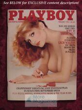 PLAYBOY February 1982 SYLVIA KRISTEL FRANCIS SMILBY LECH WALESA KAREN ALLEN