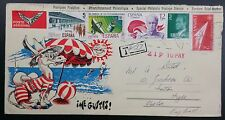 Spain 1982 Multistamp Illus. Airmail Cover, 21p To Pay Cachet, Me Gustas!