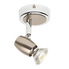 Endon Palermo ceiling spotlight plate 50W Brushed chrome effect plate