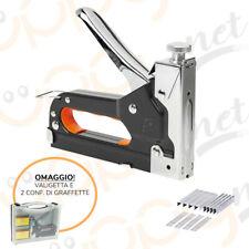 Graffatrice graffettatrice spillatrice pinzatrice sparapunti manuale acciaio