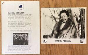 Tamla Motown 20th Anniversary Smokey Robinson    1981 UK 5-Page Press Kit